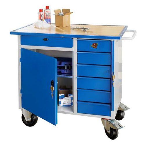 Aj produkty Mobilny stół narzędziowy flex, 1 szafka, 7 szuflad, 990x595x900 mm