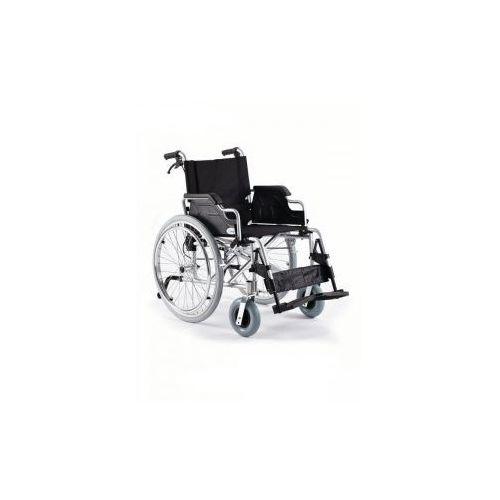 Timago Wózek inwalidzki stalowy h011 z szybkozłączką i kołami tylnymi pełnymi roz. 41 cm