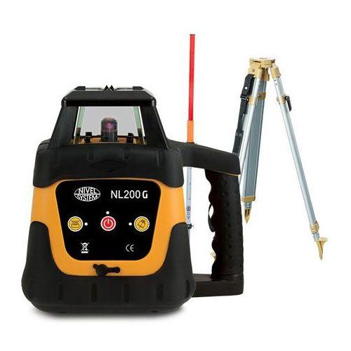 Niwelator laserowy Nivel System NL200G + statyw SJJ1 + łata LS-24