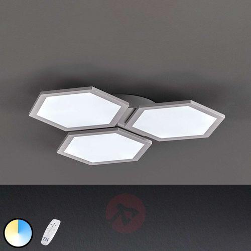 Lampa sufitowa function tiara led srebrny, 1-punktowy, zdalne sterowanie - - obszar wewnętrzny - tiara - czas dostawy: od 3-6 dni roboczych marki Fischer & honsel