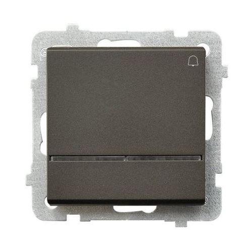 Ospel Przycisk dzwonek sonata łp-6rs/m/40 10ax z podświetleniem ip20 czekoladowy metalik