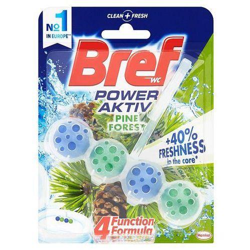 wc power aktiv zawieszka myjąco-zapachowa do muszli wc sosnowy las 50 g marki Bref