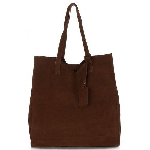 7c58a0b6d5825 Vittoria gotti torebki skórzane na każdą okazję włoski shopper xxl wykonany  z wysokiej jakości zamszu naturalnego