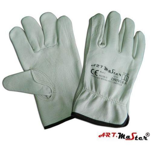 Rękawice ochronne ze skóry licowej koziej w naturalnym kolorze Driver x