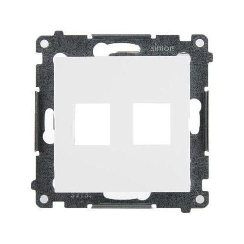 Pokrywa gniazd teleinformatycznych Simon 54 DKP2.01/11 Keystone płaska podwójna biała Kontakt-Simon (5902787824433)