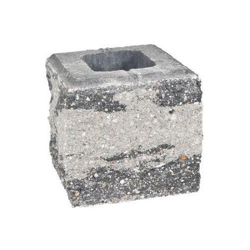 Ziel-bruk Pustak ścienno-cokołowy 20 x 19.5 x 19 cm betonowy trzystronnie łupany skała lubuska