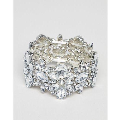 True decadence True decadance silver embellished diamante bracelet - silver