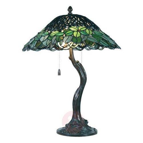 Clayre & eef Wyjątkowa lampa stołowa jamaica styl tiffany