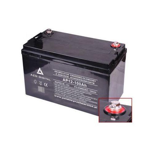 Akumulator vrla agm bezobsługowy ap12-100 12v 100ah marki Azo digital