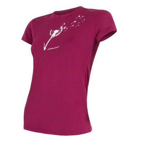 Bielizna termoaktywna pt coolmax fresh women's t-shirt short sleeves purpurowa s marki Sensor