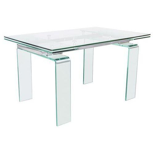 Stół szklany atlantis clear 160/240 - szkło marki King home