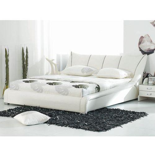 OKAZJA - Beliani Nowoczesne skórzane łóżko 160x200 cm - ze stelażem - nantes