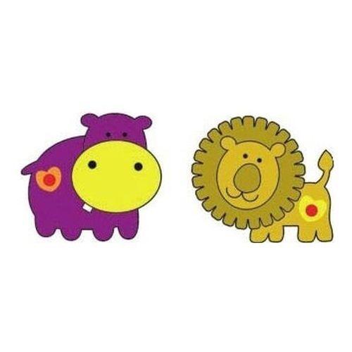 Naklejka Hipopotam i lew