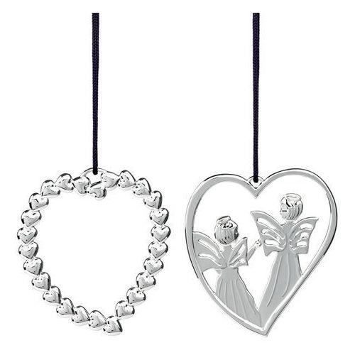 Zestaw ozdób świątecznych Rosendahl Karen Blixen 2 szt srebrne