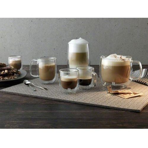 - dwie szklanki z podwójnymi ściankami do latte sorrento plus marki Zwilling