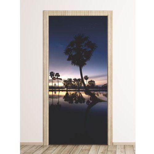 Fototapeta na drzwi gwieździste niebo nad palmami fp 6220 marki Wally - piękno dekoracji