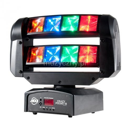 American DJ Pocket Crazy 8 - ruchoma głowa LED DMX
