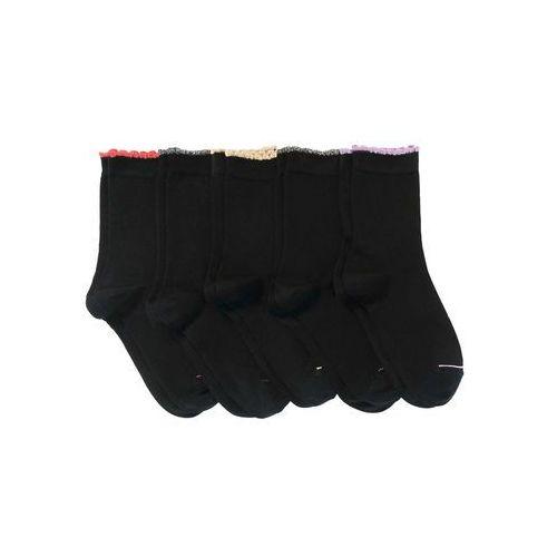 Skarpetki damskie (5 par) czarny z połyskującą nitką, Bonprix