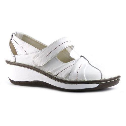 Półbuty damskie 723 - biały marki Helios