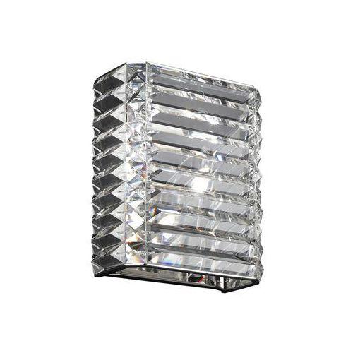 Kinkiet monti w0294-02h-b5ac lampa ścienna 2x53w g9 chrom / kryształ marki Italux