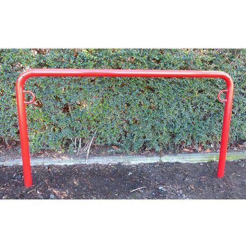 Pałąk wsporczy do rowerów, wys. 850 mm ponad podłożem, do wbetonowania, lakierow
