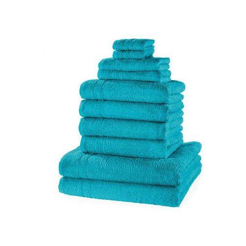 """Komplet ręczników """"new uni"""" (10 części) niebieskozielony morski marki Bonprix"""