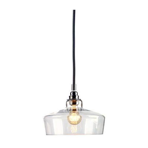 Lampa wisząca longis iii 10142109 szklana oprawa minimalistyczny zwis przezroczysty czarny marki Kaspa