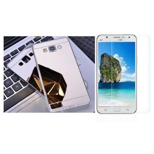 Zestaw | Slim Mirror Case Srebrny + Szkło ochronne Perfect Glass | Etui dla Samsung Galaxy J5