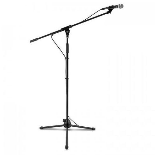 Auna 3 xkm 02 zestaw mikrofonowy 4-częściowy mikrofon statyw zacisk kabel 5m c