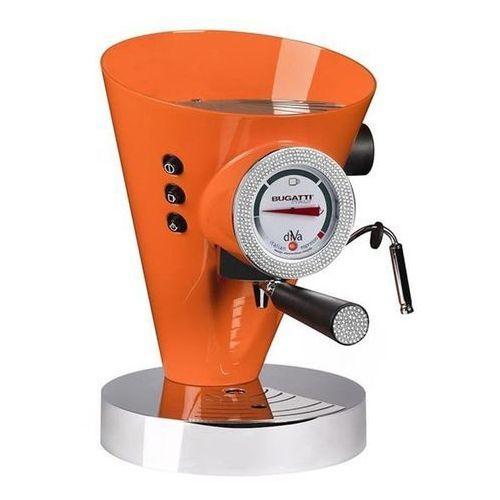 Casa bugatti - ekspres diva - 431 kryształów swarovski ® na zegarze i uchwycie - pomarańczowy