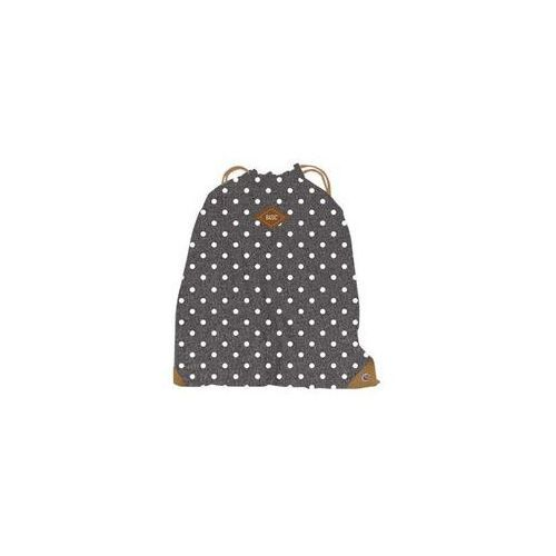 Worko-plecak Basic kropki szary, 388379