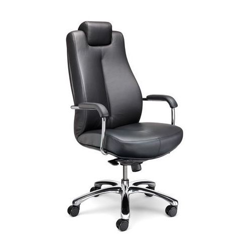 Fotel gabinetowy SONATA XXL LUX HRU steel17 chrome