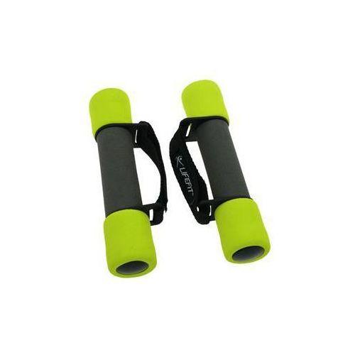 Hantle piankowe z paskiem plus, 2 x 0,5 kg - czarny / zielony marki Lifefit