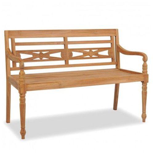 Drewniana ławka ogrodowa rea - brązowa marki Producent: elior