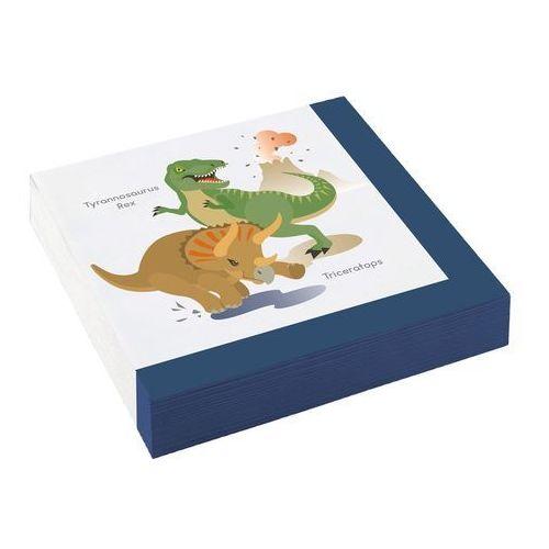 Serwetki urodzinowe dinozaury - 33 cm - 20 szt. marki Amscan