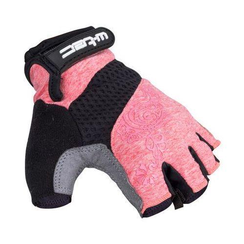 Damskie rękawice rowerowe W-TEC Atamac AMC-1038-17, Szaro-różowy, L