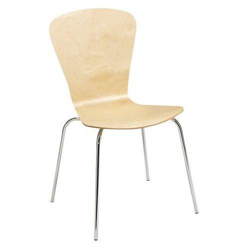 Krzesło do stołówki milla, sztaplowane, brzoza marki Aj produkty