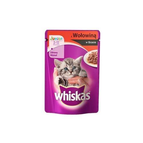Whiskas junior wołowina w sosie - saszetka 48x100g + whiskas puszka z okazji dnia kota gratis!!!