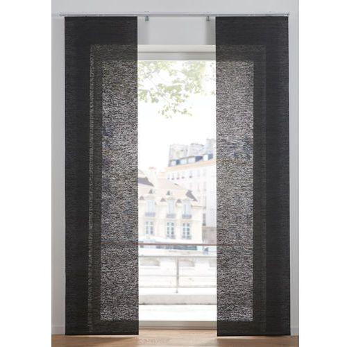 Nieprześwitująca zasłona panelowa w strukturalny wzór (1 szt.) antracytowy marki Bonprix