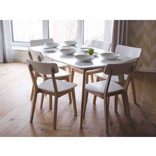 Zestaw do jadalni 2 krzesła białe SANTOS (4260586359398)