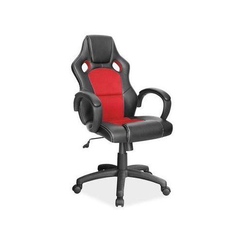 Fotel obrotowy q-103 czarny czerwony marki Signal meble
