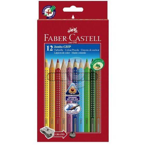 Kredki ołówkowe jumbo grip 12 kolorów marki Faber-castell