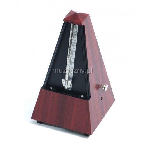 Wittner 855111 903330 piramida metronom mechaniczny z akcentem, kolor mahoń