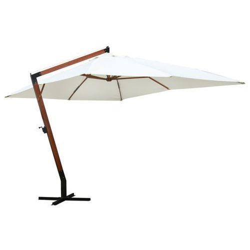 parasol ogrodowy, 300x400cm, biały marki Vidaxl