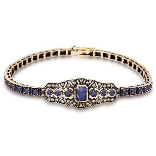 Kolekcja wiktoriańska - bransoletka z diamentami i szafirami marki Biżuteria yes