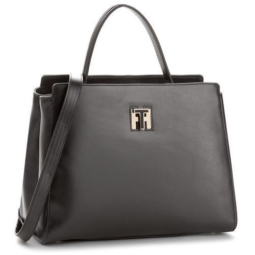 Torebka TOMMY HILFIGER - Th Twist Leather Med Tote AW0AW05261 002