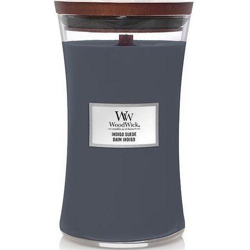 Świeca core indigo suede duża marki Woodwick