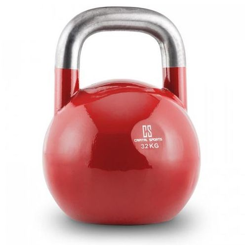 Compket 32 Competition odważnik kettlebel hantel kulisty stal 32kg czerwony