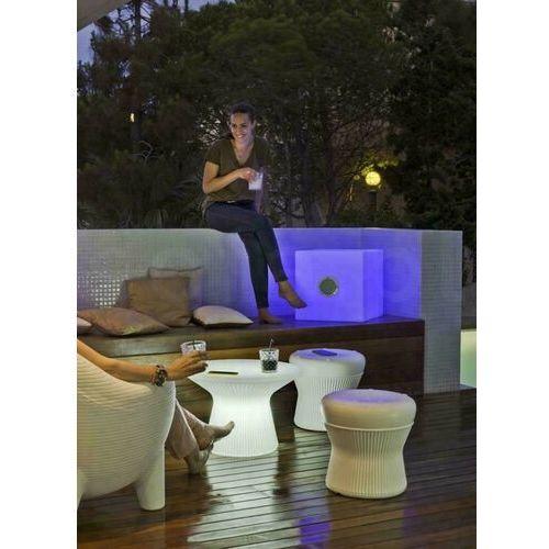 New garden stolik capri 40 solar biały - led, sterowanie pilotem marki Sofa.pl