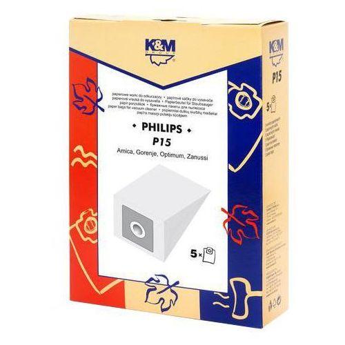 K&m Worki do odkurzaczy  p15 papierowe (5907525806719)